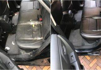 Lederen autobekleding reinigen